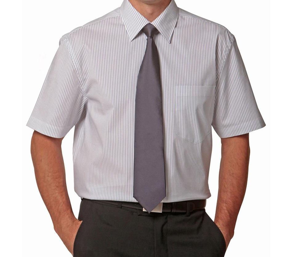 koszula męska z krótkim rękawem i wykładanym kołnierzem